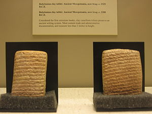 Miniature clay tablets from Babylon, considere...