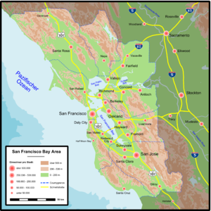 Map of the SF Bay Area