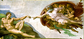 LA CREACION DE ADAN. MIGUEL ANGEL BUONARROTTI. (1475-1564) Wikimedia Commons