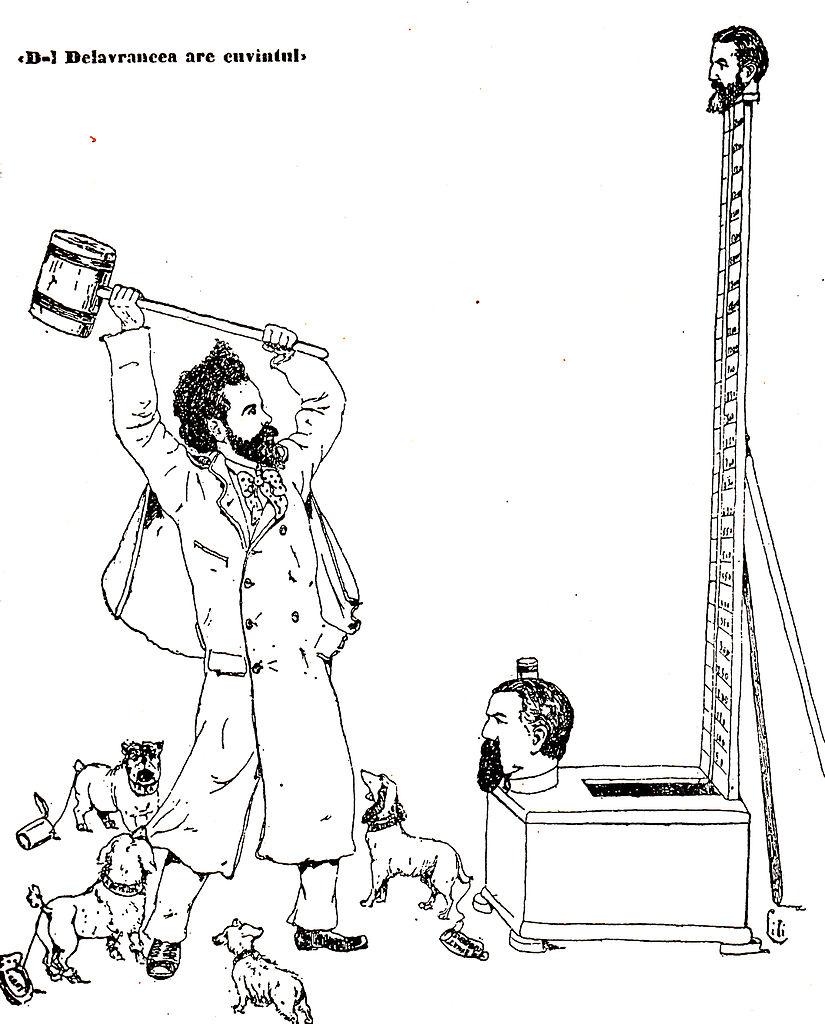 File:D-l Delavrancea are cuvîntul Vieaţa cartoon ILR 573