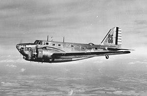 Photo of a U.S. Army Douglas B-18 Bolo bomber.