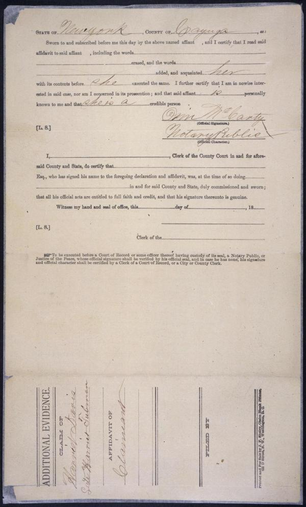 Generic Notary Signature Form - Year of Clean Water