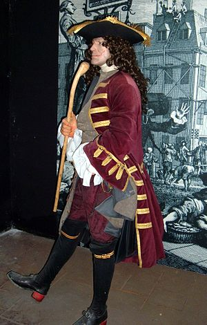 Depiction of a gentleman pirate at the Pirates...
