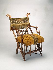 recovering chair cushions vinyl straight back upholstery wikipedia george jacob hunzinger armchair designed 1869 patented march 30 wood original brooklyn museum