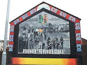 A republican mural in Belfast commemorating th...