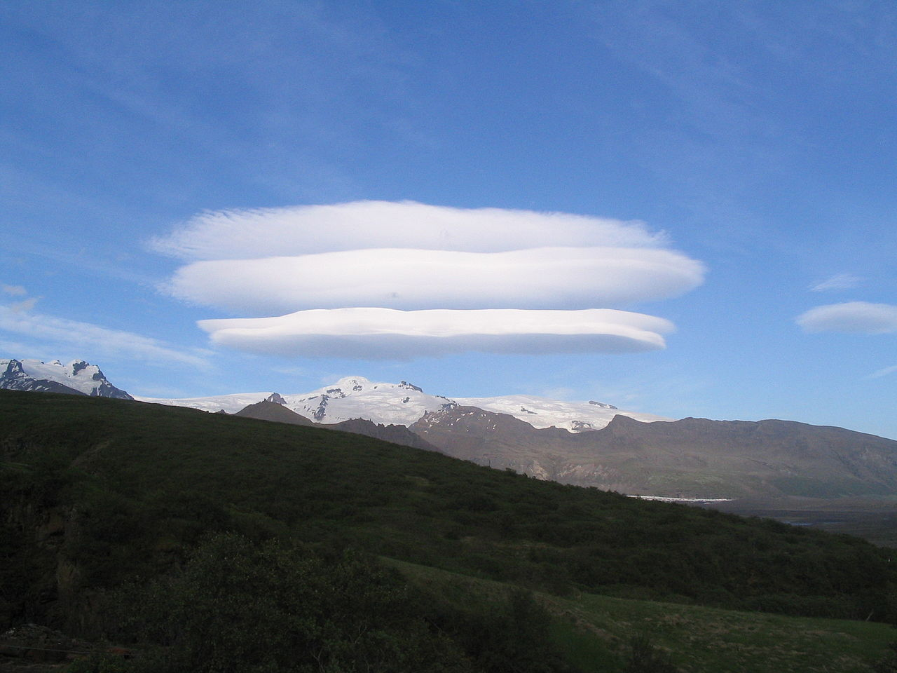 These are lenticular clouds.