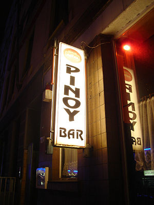Pinoy Bar in the red light Reeperbahn in Hambu...