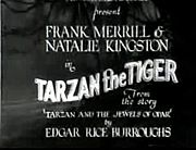 Titoli di Tarzan the Tiger del 1929