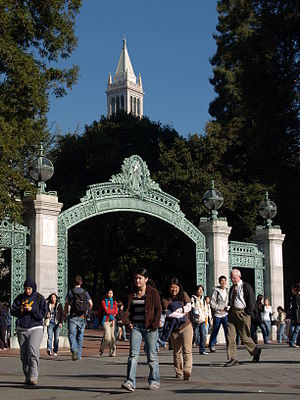 English: The Campanile and Sather Gate on the ...