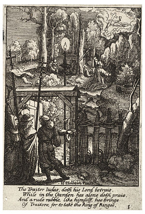 Wenceslas Hollar - Jesus on the Mount of Olives