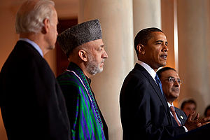 President Barack Obama with Afghanistan Presid...
