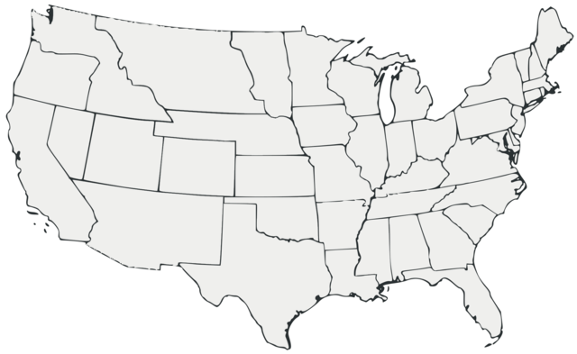 File:Blank Map of the United States 1860 all White.png