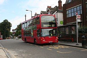 English: Bus stop on Whytecliffe Road South, P...