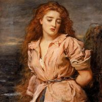 """The Martyr of Solway"" by John Everett Millais"