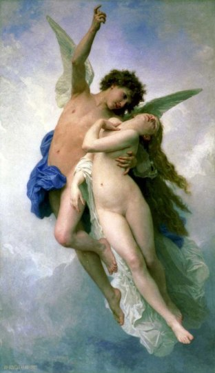 """""""Cupid and Psyche"""" by William-Adolphe Bouguereau"""
