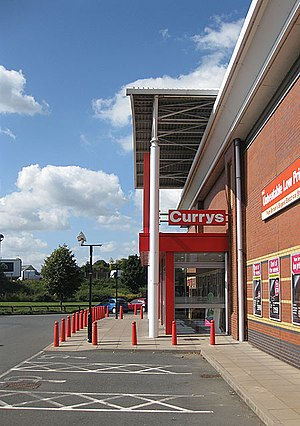 Retail park, Hereford Could be anywhere in the...