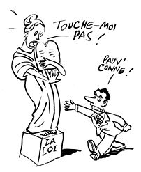 Caricature of Nicolas Sarkozy about his words ...