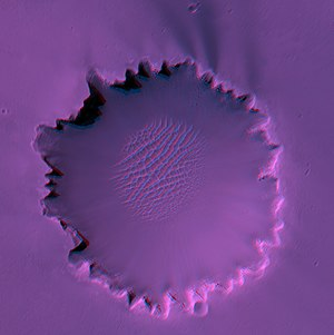 Stereo view of Victoria Crater taken by Mars R...