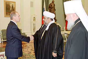 THE KREMLIN, MOSCOW. President Putin with Muft...