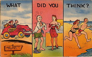 "Cartoon postcard ""What Did You Think?&quo..."