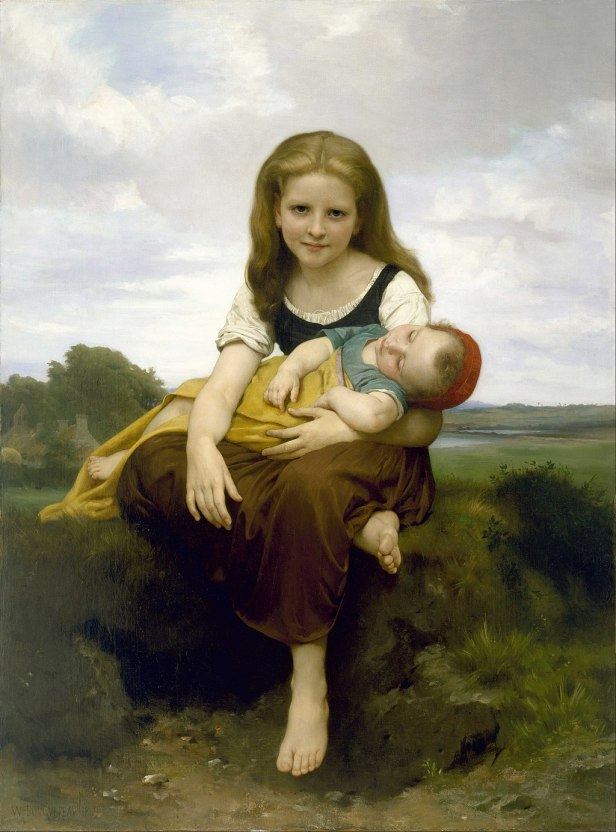 """The Elder Sister"" by William-Adolphe Bouguereau"