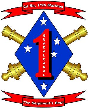 English: logo for 2nd Battalion 11th Marines