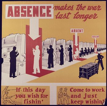 Absence makes the war last longer - NARA - 534699