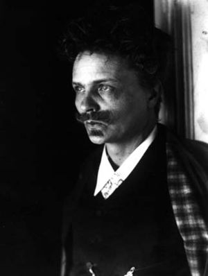 Self-portrait of Swedish writer August Strindberg.