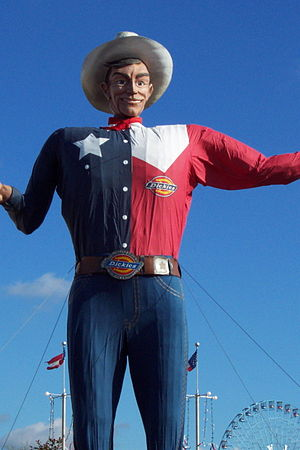 English: Description: Big Tex, the mascot of t...