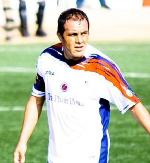 English: Crop of Cuauhtemoc Blanco with Veracruz.