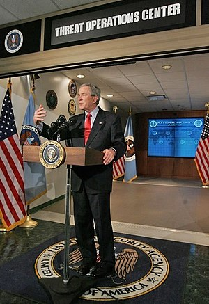 President George W. Bush addresses the media d...