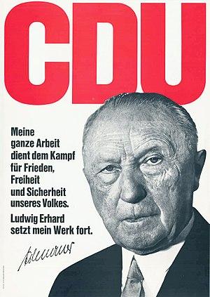 CDU Wahlplakat, 1965, Adenauer, Konrad Text de...