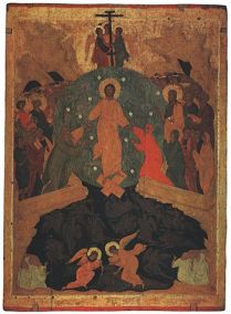 Descent into Hell, icon from the Ferapontov Mo...