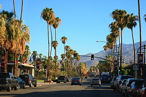English: Palm Canyon Drive (California State R...