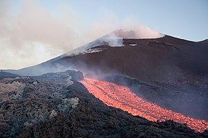 English: Volcano Etna (Sicily, Italy) during a...
