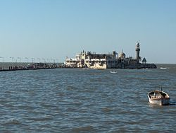 Haji Ali dargah as seen from Worli