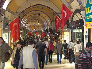 Inside the Grand Bazaar, Istanbul, Turkey