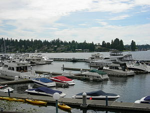 View from Carillon Point, Kirkland, Washington.