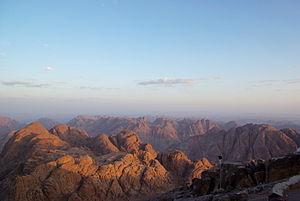 Deutsch: Sinai Halbinsel, Aussicht vom Mosesbe...