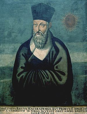 """Matteo Ricci """"Painted in 1610 by the Chin..."""
