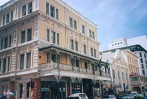 Gebäude auf der Long Street