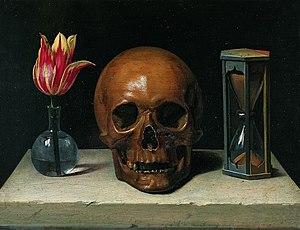 Still-Life with a Skull, vanitas painting.