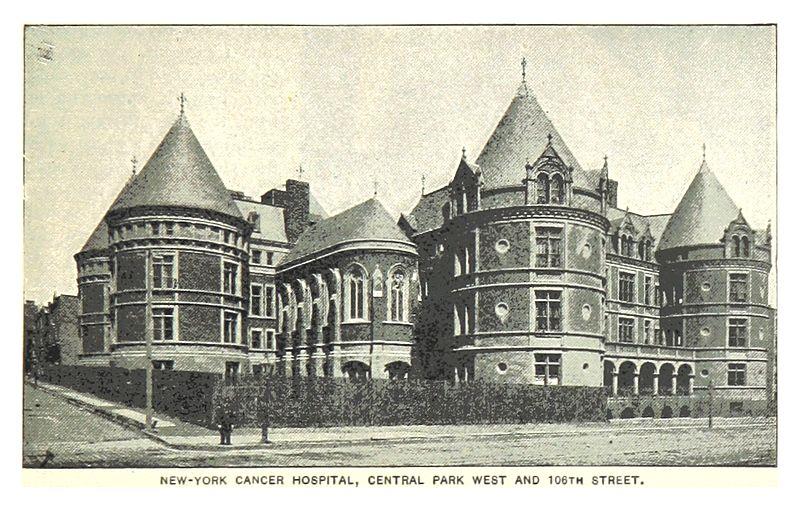 File491 NEWYORK CANCER HOSPITAL CENTRAL PARK WEST AND