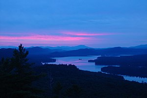 Sunrise over 4th Lake from Bald Mountain, Augu...