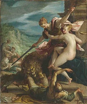 Hans von Aachen, Allegory or The Triumph of Ju...