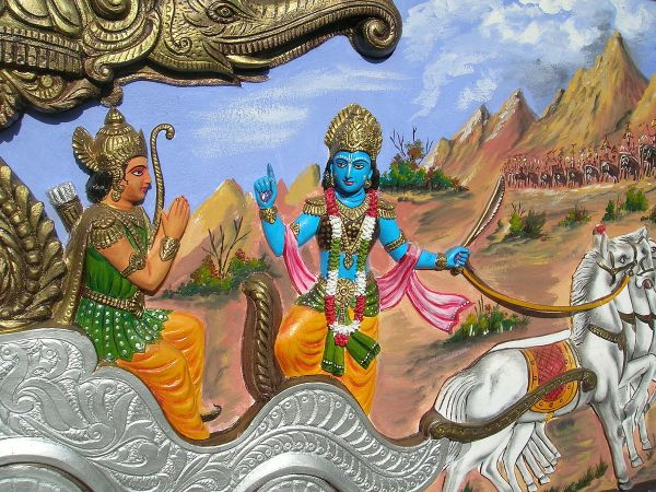 Bhagavad Gita Arjuna and Krishna