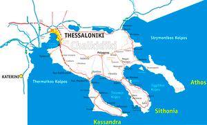 Chalkidiki Halbinsel