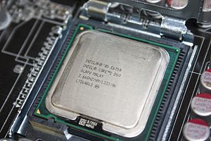 English: E6750 in an Asus P5K motherboard.