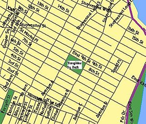 Map of the East Village neighborhood in Manhat...