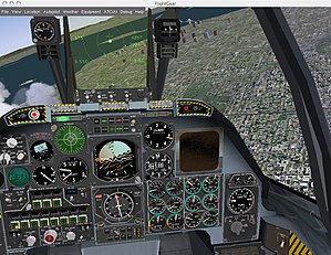 FlightGear 1.0.0 r150 for Mac OS X. Flight A-10.